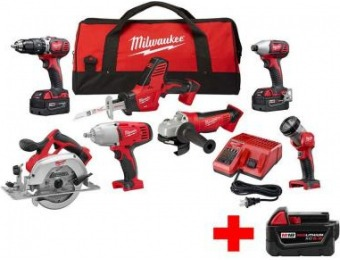 $400 off Milwaukee M18 18V Li-Ion Cordless Combo Kit (7-Tools)