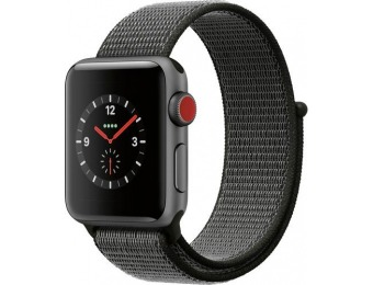 $120 off Apple Watch Series 3 (GPS + Cellular), 38mm Space Gray Case