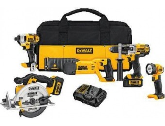 $230 off DEWALT 20V MAX Lithium-Ion Cordless Combo Kit (5-Tool)