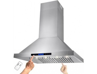 "$299 off AKDY 36"" Kitchen Island Mount Range Hood in Stainless Steel"