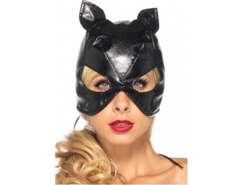 55% off Cat Mask Faux Leather Black