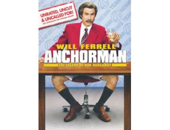 50% off Anchorman: The Legend of Ron Burgundy [Unrated] DVD