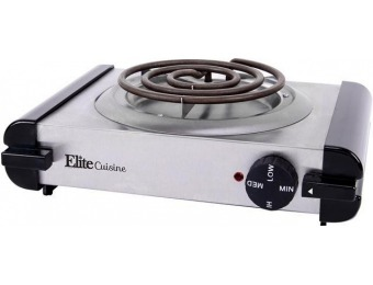 35% off Elite ESB-301SS Electric Stainless Steel Burner Hot Plate