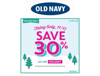 Extra 30% off Everyday Steals & Clearance Items at Old Navy