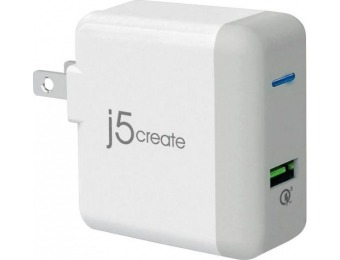 60% off j5create Quick Charge AC Power Adapter