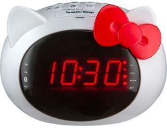 58% off Hello Kitty Digital Bluetooth FM Clock Radio