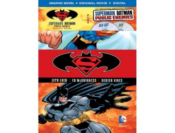 43% off Superman/Batman: Public Enemies (Blu-ray + DVD + Novel)
