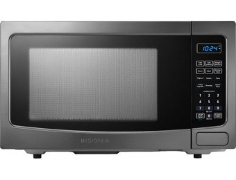 $30 off Insignia 1.1 Cu. Ft. Microwave - Black Stainless Steel