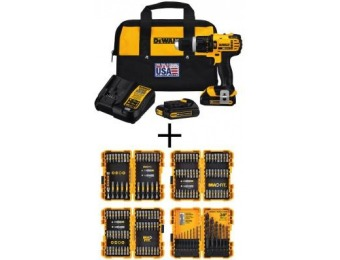 $109 off DEWALT 20V MAX Lithium-Ion Compact Hammer Drill/Driver Kit
