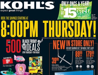 Preview Kohl's Black Friday Sale Ad - Over 500 Deals and Doorbusters