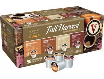 50% off Victor Allen Fall Harvest Premium Coffee Pods (96-Pk)