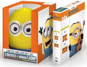 54% off Despicable Me: 3-Movie Collection with Minion Lamp