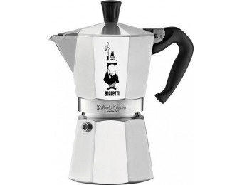 50% off Bialetti Moka Express Espresso Maker/6-Cup Coffee Maker