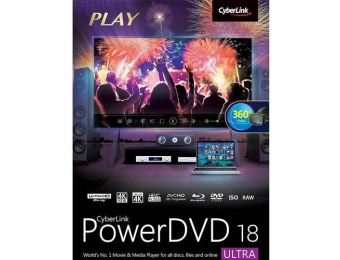 $35 off PowerDVD Ultra 18 - Windows