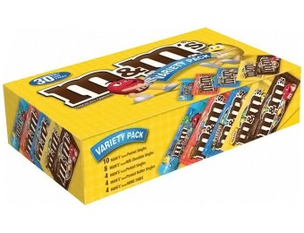 40% off M&M's Full Size Variety Pack, 30 ct Case