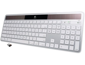 33% off Logitech Wireless Solar Keyboard K750 for Mac (3 colors)