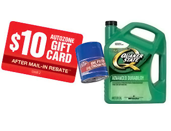 Quaker State 5+ Qt Jug 10W30/10W40 + STP Oil Filter w/ $10 rebate