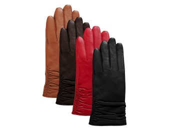 $49 off Luxury Lane Cashmere Lined Lambskin Leather Gloves