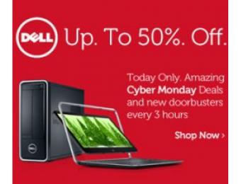 Dell Cyber Monday Doorbuster Deals, Up to 50 Percent Off