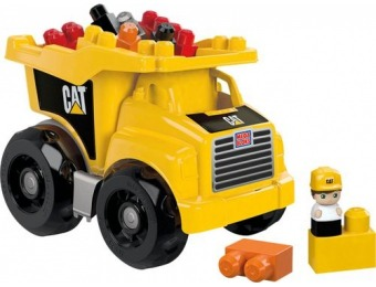 50% off Mega Bloks CAT Dump Truck Building Set