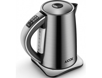50% off Aicok Electric Kettle Stainless Steel Tea Kettle