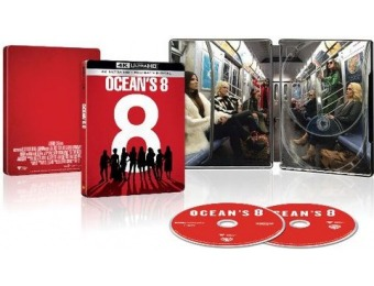 75% off Ocean's 8 [SteelBook] (4K + Blu-ray + Digital)