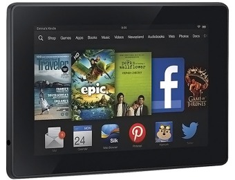 "$25 off Amazon Kindle Fire HD 7"" Tablet with 16GB Memory"