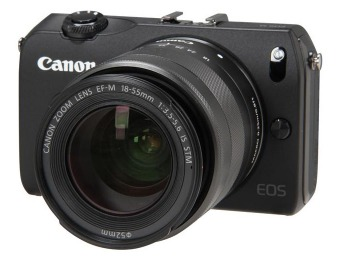 $344 off Canon EOS M 18MP Camera w/ EF-M18-55mm Lens
