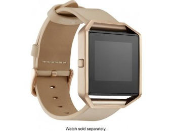 50% off Fitbit Blaze Platinum Leather Band