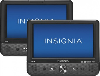 "$90 off Insignia 9"" Dual Portable DVD Players"