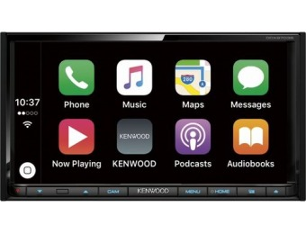 "$320 off Kenwood 6.95"" Android / Apple In-Dash CD/DVD/DM, Refurb"