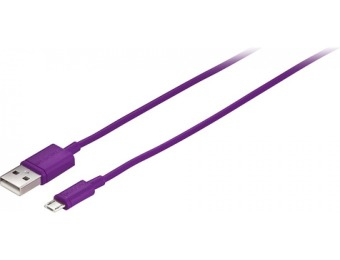 80% off Insignia 3' Micro USB-to-USB Charge-and-Sync Cable - Purple