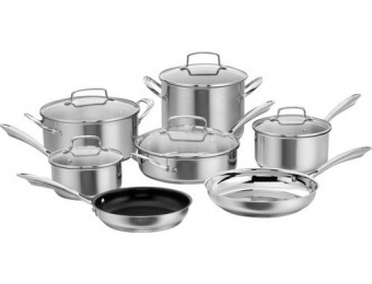 $220 off Cuisinart 12-Pc Cookware Set - Stainless Steel
