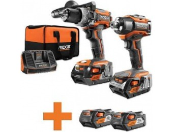 $219 off RIDGID Lithium-Ion Brushless Drill / Driver Combo Kit