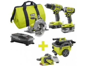 $228 off Ryobi One+ Lithium-Ion Cordless Brushless Combo Kit
