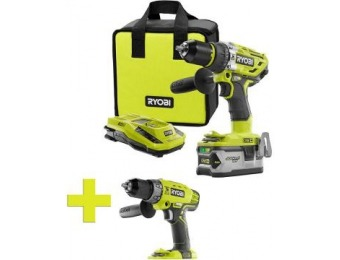 $69 off Ryobi One+ Lithium-Ion Brushless Hammer Drill/Driver