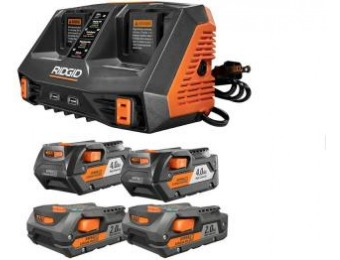 $201 off RIDGID Lithium-Ion Dual Port Sequential Charger Kit