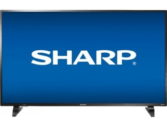 "$120 off Sharp 50"" LED 1080p Smart HDTV Roku TV"