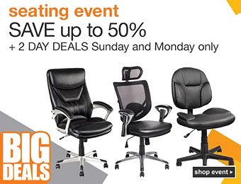 Seating Event - Save up to 50% off office chairs!