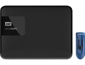 $110 off WD Easystore 4TB USB 3.0 Portable Hard Drive + 32GB USB