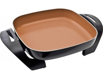 "50% off Bella 12"" x 12"" Copper Titanium Electric Skillet"