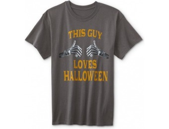 75% off Men's Halloween Graphic T-Shirt - This Guy Loves Halloween