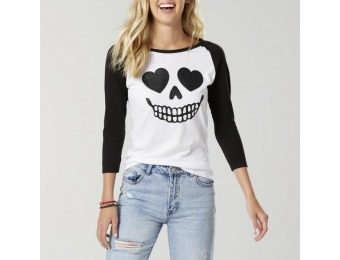 80% off Joe Boxer Juniors' Halloween Graphic T-Shirt - Skull
