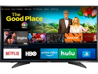 "$100 off Toshiba 43"" LED 1080p Smart HDTV – Fire TV Edition"
