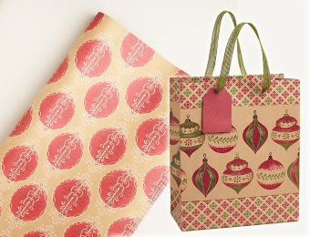 30% off Holiday Wrapping Paper, Ribbons & Gift Bags