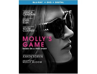 83% off Molly's Game (Blu-ray + DVD + Digital)