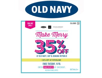 Save 35% off Your Entire Purchase at Old Navy
