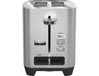 60% off Bella Pro Series 2-Slice Wide/Self-Centering-Slot Toaster