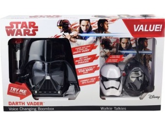 78% off Star Wars Darth Vader Voice Changing Boombox & Walkie Talkies