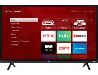 "$50 off TCL 32"" LED 3-Series 1080p Smart HDTV Roku TV"